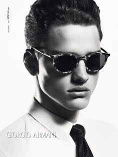 Simon Nessman by Mert - Giorgio Armani F/W 2012 Eyewear Campaign