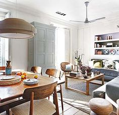 This lovely apartment has a very long and interesting history. It might seem now like a relatively modern home but it's not the whole story. The apartment Small Apartment Design, Apartment Interior Design, Small Dining, Small Space Living, Small Spaces, Lovely Apartments, Appartement Design, Piece A Vivre, Dream Decor