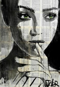 "Saatchi Art Artist Loui Jover; Drawing, ""undine"" #art"