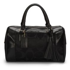 #CoachOutletStore Coach Legacy Haley Medium Black Satchels AVU Keeps You Unique In Any Occasion, Welcome To Purchase!