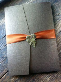 Items similar to Chocolate Brown Fall Wedding Invitation on Etsy October Wedding, Autumn Wedding, Rustic Wedding, Thanksgiving Wedding, Ultimate Wedding Gifts, Unique Wedding Gifts, Making Wedding Invitations, Wedding Stationery, Wedding