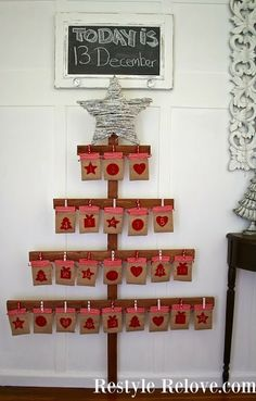 Restyle Relove: DIY Wooden Tree Christmas Advent Calendar