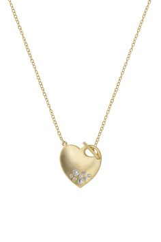14K Lariat Heart Necklace
