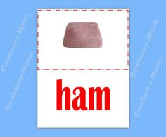 "Teach Baby to Read Baby Book ""ham"" Page,Instant Download,Homeschool Book ""ham"" Page,Learn To Read Printable,Flashcards,Baby Gift by CowberryMoon on Etsy"