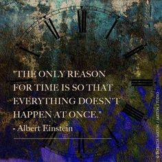 So the solution is to destroy time...