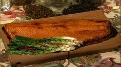 the chew   Recipe    Michael Symon's Cedar Plank Salmon (honey mustard teriyaki glaze)