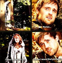 Robin Hood bbc to series.  I loved this part. How he knew it was time for him to go when he saw her ❤️ it was sad yet filled my OTP heart