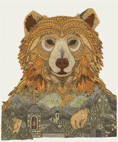 European Brown Bear by Claire Scully - London based illustrator