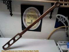 Home Brewing Hand Carved Mash Paddle /