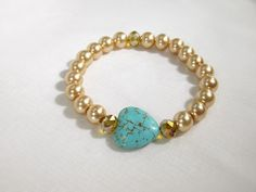 Hey, I found this really awesome Etsy listing at https://www.etsy.com/listing/206793846/beautiful-gold-and-turquoise-glass