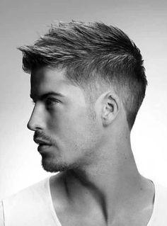 Mens Modern Hairstyles, Faux Hawk Hairstyles, Popular Short Hairstyles, Modern Haircuts, Best Short Haircuts, Men Hairstyles, Trendy Haircuts For Men, Men's Haircuts, Guys Haircuts Fade