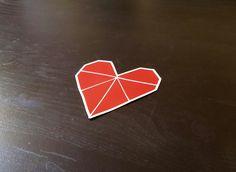 Origami Heart , Sticker - A Vol d'Oiseau, A Vol d'Oiseau  - 1