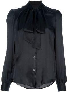 Dolce & Gabbana Silk Pussy Bow Blouse