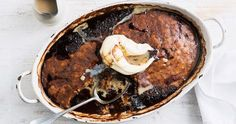 We've made chocolate self-saucing pudding even more indulgent by adding rich Baileys Irish cream. Ice Cream Desserts, No Bake Desserts, Just Desserts, Delicious Desserts, Dessert Recipes, Dessert Ideas, Cake Recipes, Self Saucing Pudding, Bread And Butter Pudding