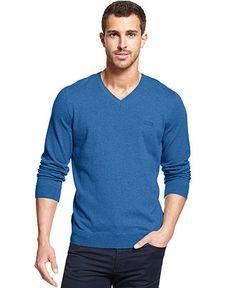 BOSS HUGO BOSS Barnabas V-Neck Sweater - Sweaters - Men - Macy's