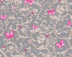 RW2606 Gold Polka Dot Wallpaper, Pink And Grey Wallpaper, Quirky Wallpaper, Pink Glitter Wallpaper, Gold Polka Dots, Versace Wallpaper, Velvet Wallpaper, Pink Patterns, Wall Patterns