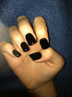 Long black nails