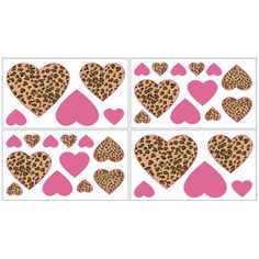 @Overstock.com - Sweet Jojo Designs removable wall decals add a fun and colorful touch to any bedroom. These wall decals make great gifts and are sure to enhance your room decor and create an interesting and stimulating environment.http://www.overstock.com/Baby/Sweet-JoJo-Designs-Cheetah-Pink-and-Brown-Wall-Decal-Stickers-Set-of-4/7599471/product.html?CID=214117 $21.99