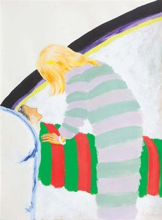 Roger Raveel (Belgian, 1921–2013) Title: Au chevet , 1979 Medium: oil on paper Size: 77 x 56 cm. (30.3 x 22 in.)