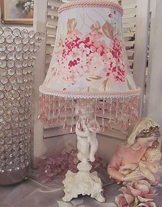 These lamps for ramadan are a tremendous improvement to your bedroom Shabby Chic Decor Living Room, Shabby Chic Lamps, Shabby Chic Fabric, Simply Shabby Chic, Shabby Chic Style, Shabby Vintage, Rose Cottage, Lamp Bases, Hydrangea