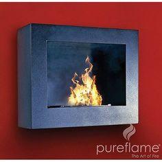 Amazon.com: Hestia Wall Mount Liquid Fuel Fireplace: Home & Kitchen