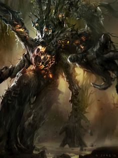 tree creatures | Digital Art Inspiration and Tutorials – The Round Tablet ...