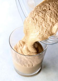 chocolate banana smoothie This Chocolate Peanut Butter Banana Smoothie has an ice-cream-like texture, while being dairy-free and naturally sweetened. It's a healthy vegan milk Chocolate Banana Smoothie, Banana Drinks, Peanut Butter Smoothie, Banana Milkshake, Peanut Butter Banana, Chocolate Peanut Butter, Chocolate Milkshake, Almond Butter, Smoothie Recipes With Yogurt