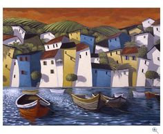 Miguel Freitas Art, Seaside, Limited Edition Giclee print
