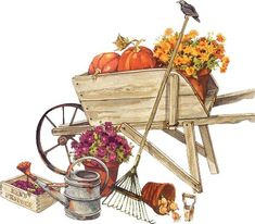 Clip Art Decoupage Scarecrows and Pumpkins Gif Animé, Animated Gif, Illustrations, Illustration Art, Fall Clip Art, Marjolein Bastin, Arte Country, Different Kinds Of Art, Calla Lilies