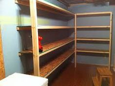 how to build basement shelving - Google Search Basement Shelving, Room Shelves, Storage Room, Organizing, Bookcase, Decorating, Google Search, Building, House
