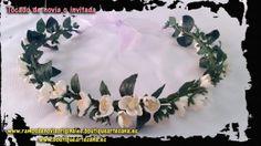 Tiara flor almendro de porcelana