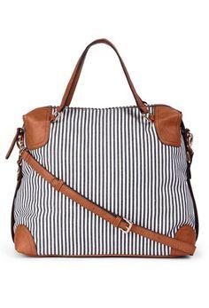Stripe Tote Bag //