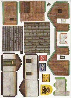 Warhammer Buildings Paper Models - by Dralair more buildings at website