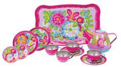 Amazon.com: Schylling Garden Party Tea Set: Toys & Games