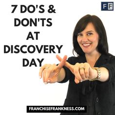 Check out our Blog Post! http://franchisefrankness.com/dothese7thingsfordiscoveryday