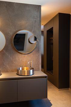 Interior Inspiration, Bathroom Lighting, Modern, Interior Design, Mirror, Furniture, Home Decor, Round Bathroom Mirror, Natural Stones
