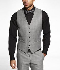 GLEN PLAID SUIT VEST at Express----so obvi. this is for the boys :)
