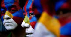 Tibetan exiles in New Delhi