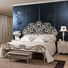 Bedroom Furniture, Furniture Design, Wrought Iron Beds, Master Bedroom Design, Headboards For Beds, Bed Styling, Interior Design, Decoration, Mousse Cake