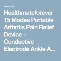 Healthmateforever 15 Modes Portable Arthritis Pain Relief Device + Conductive Electrode Ankle And Wrist Sleeves Carpal Tunnel Therapy Relief Ankle Pain Relief Fda Cleared Zt15Ab