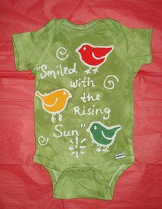 Custom Bob Marley Tribute Baby Batik Onesie Three Little Birds Rasta Colors. $20.00, via Etsy.
