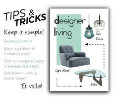 """""""Keeping it simple"""" by rachaelv ❤ liked on Polyvore featuring interior, interiors, interior design, home, home decor, interior decorating, Ligne Roset, Vitra, Tom Dixon and tipsandtricks"""