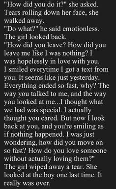 So sad, hits home.