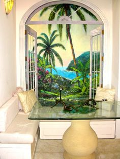A Mural Painting For Faux Ambiance, De Palm Tree