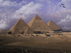 Pirámides de Egipto: Keops, Kefrén y Mikerinos.