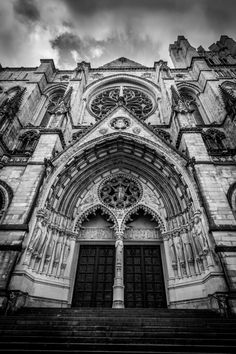 """Saatchi Art Artist Kenneth Laurence Neal; Photography, """"NY in Black and White: St. John the Divine Cathedral"""" #art"""