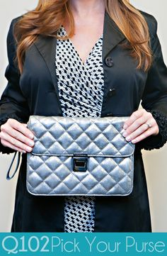 BCBG Generation - Silver Metallic Clutch. Go to wkrq.com to find out how to play Q102's Pick Your Purse!