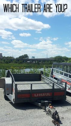 U-Haul's 5x9 open ramp trailer is convenient for yard work ...