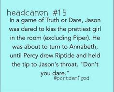 headcanon percabeth - Google Search
