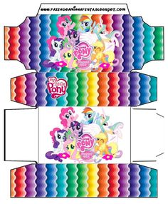 Cajitas imprimibles de My Little Pony. | Ideas y material gratis para fiestas y celebraciones Oh My Fiesta! My Little Pony Party, Fiesta Little Pony, Cumple My Little Pony, My Little Pony Birthday, Rainbow Dash Party, Oh My Fiesta, Little Poney, Equestria Girls, Diy Gifts